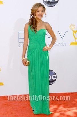 Heather Hemmens Green One Shoulder Prom Dress Emmys 2012 - TheCelebrityDresses