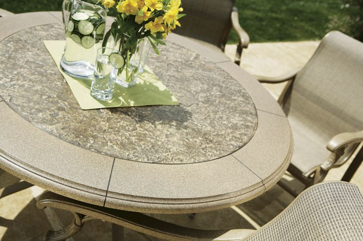 Stoneworks 174 Tables By Tropitone 174 Are Durable Hand