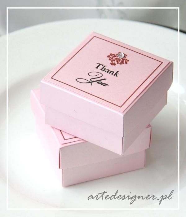Podziękowania dla gości Victoria / Victoria favor boxes. Products By / www.artedesigner.pl