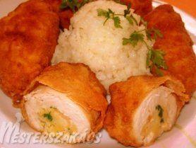 Göngyölt csirkemell recept