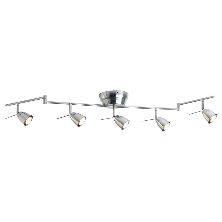 $50. BAROMETER Ceiling track, 5-spots - IKEA. 35 watt halogen bulbs. for BASEMENT