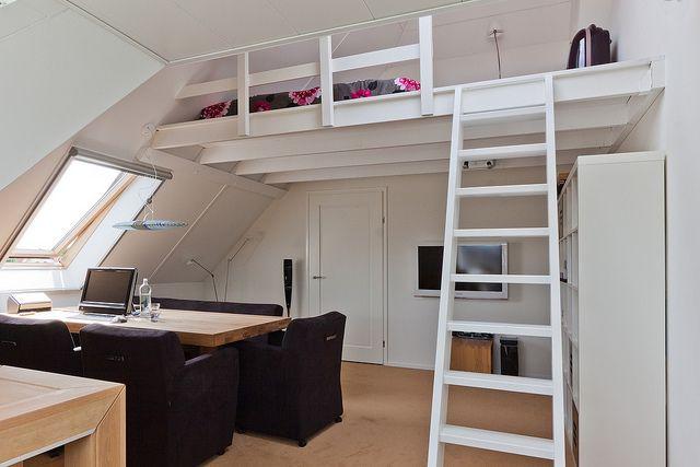Interieurfotografie Enkhuizen, werkruimte met slaapvide
