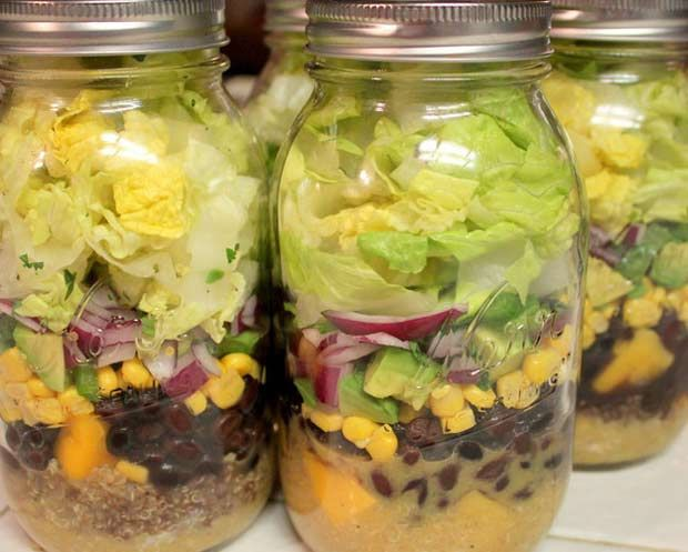 14 receitas de salada no pote, experimente, comer frutas e legumes no nosso dia a