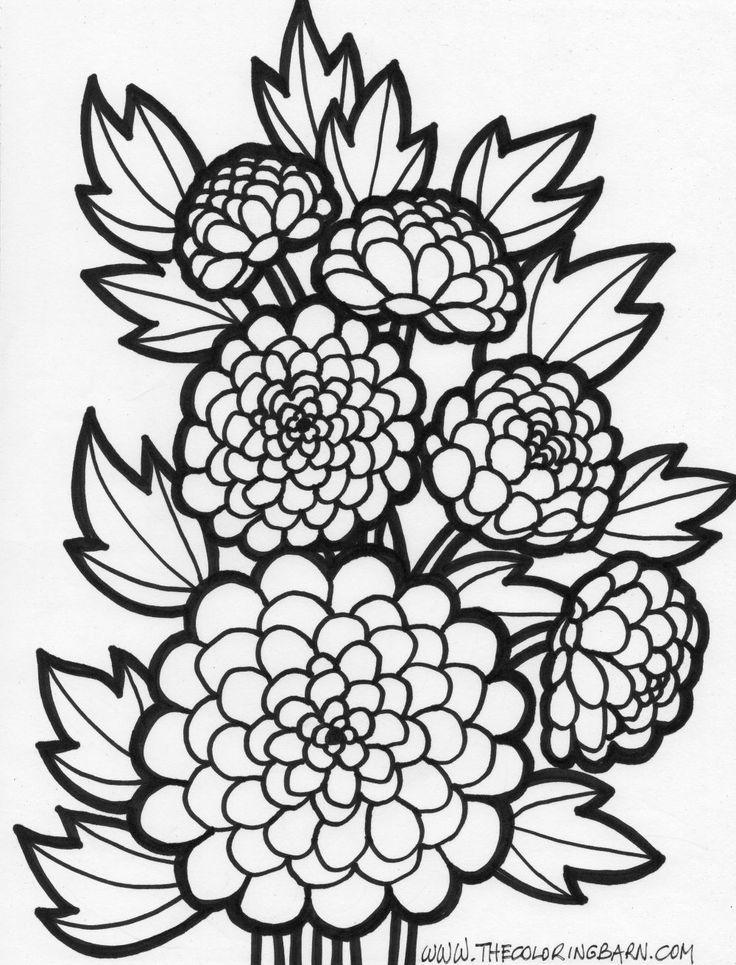 Coloriages de fleurs 3907