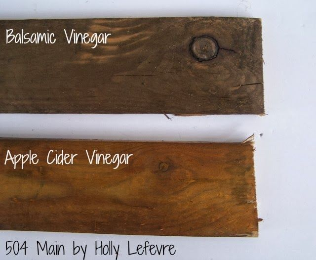 How to Stain Wood with Balsamic Vinegar. Comparison with Apple Cider Vinegar too.