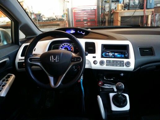 honda civic with pearl white plasti dip interior panels things i love pinterest honda. Black Bedroom Furniture Sets. Home Design Ideas