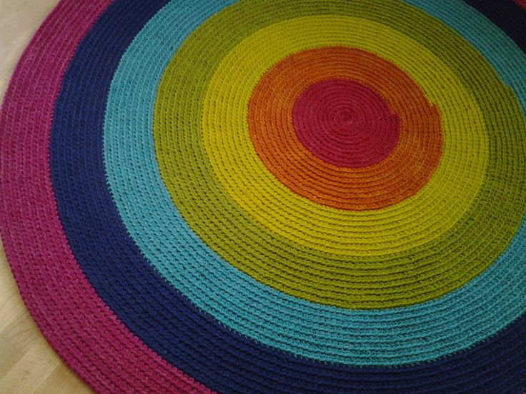 Large crochet round rug, 70'' (178 cm)/Crochet Rug/Rugs/Rug/Area Rugs/Floor Rugs/Large Rugs/Handmade Rug/Carpet/Wool Rug by AnuszkaDesign on Etsy