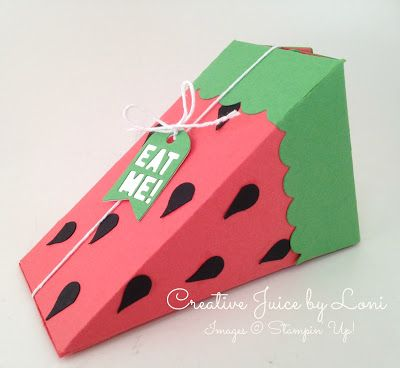 Watermelon from Stampin' Up! Cutie Pie Thinlits with Tutorial, Creative Juice by Loni