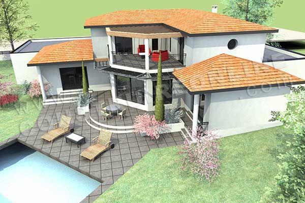 plan de villa luxieuse ETERNA piscine
