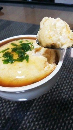 レンジで!卵と豆腐のふわふわ蒸し♡