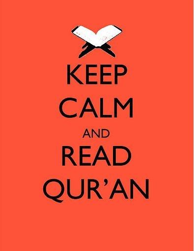 Keep calm and read quran #islam