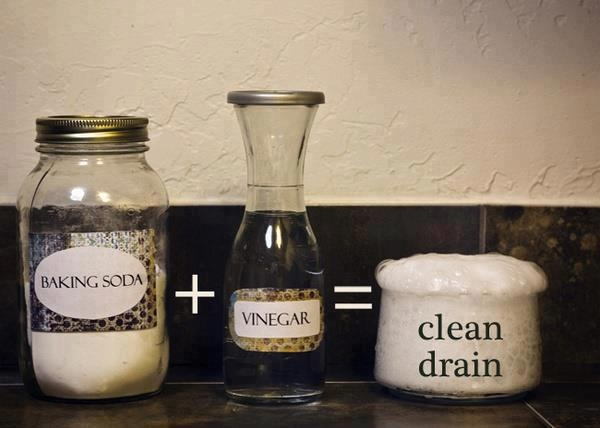 Pour 1/2 cup baking soda down your drain and then 1/2 cup of vinegar. Cover up the drain during the crazy chemical reaction. Wait 15 mins and pour a pot of boiling water down the drain. It clears the clogged pipes of hair and other funk, plus it's easier on the pipes than Drano.