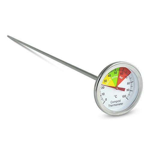 From 10.00 Stainless Steel Compost Thermometer - 50mm Dial