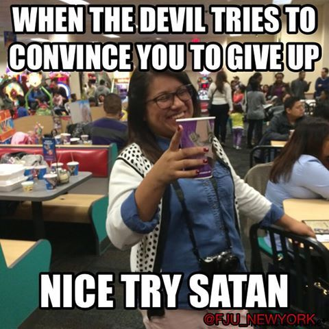 """Better luck never. #GoodMorning #FJU! """"And I tell you, you are Peter, and on this #rock I will build my church, and the gates of #hell shall not prevail against it."""" Matthew 16:18 ESV #fjusa #church #me #nicetry #motivation #chuckecheese"""