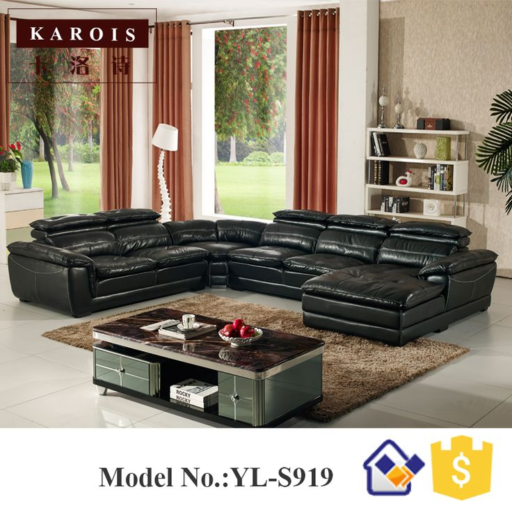 S919Factory Wholesale U Shape Italy Leather Sofa Set For Living Room  Furniture,fauteuil Lit Part 78