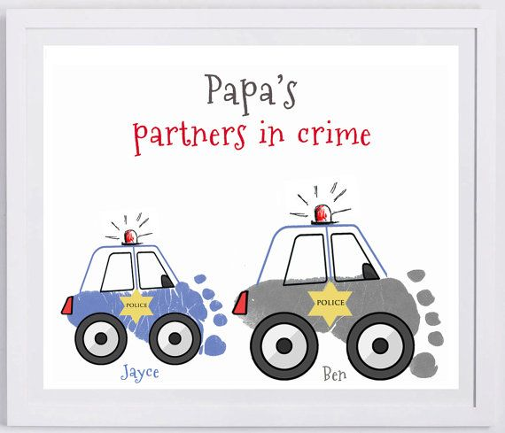 Police Car Footprint Wall Art. Your families by MyForeverPrints