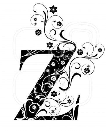 Letter Capital Z, alphabet, arabic, art