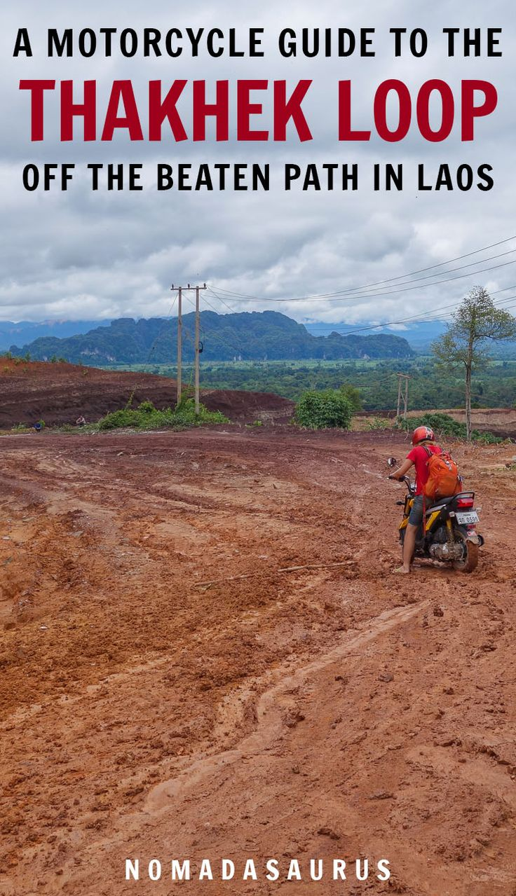 The Thakhek loop is a great way to get off the beaten path in Laos! Here's our motorcycle guide full of tips and advice on what to expect. #thakhekloop #laos