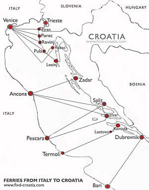 From this page you can check and book online various ferry routes for sailing along Adriatic Sea and/or Croatian Coast. To use the booking panel, click on route you are interested in and booking engine will pop up to proceed with info and booking. Check also bookings with other ferry companies at individual pages.