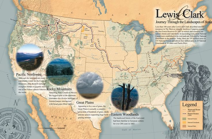 Lewis and Clark Expedition | graphic] A large map of the Lewis and Clark trail.