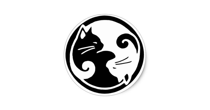 Japanse geïnspireerde kunst voor Tao van Miauw - twee yings yang katten!