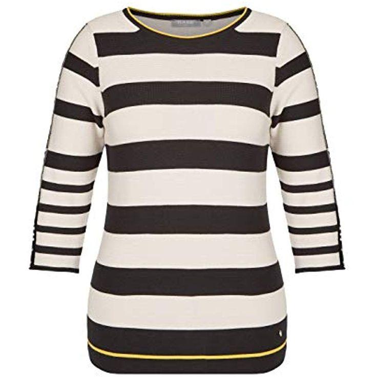 Rabe Damen Pullover mit 3/4-Ärmeln und Allover-Ringeln #Bekleidung #Damen #Unte…
