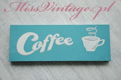 Tabliczka, deseczka dekoracyjna COFFEE Handmade Wooden Sign
