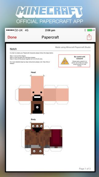 Minecraft Papercraft Studio från 57Digital Ltd