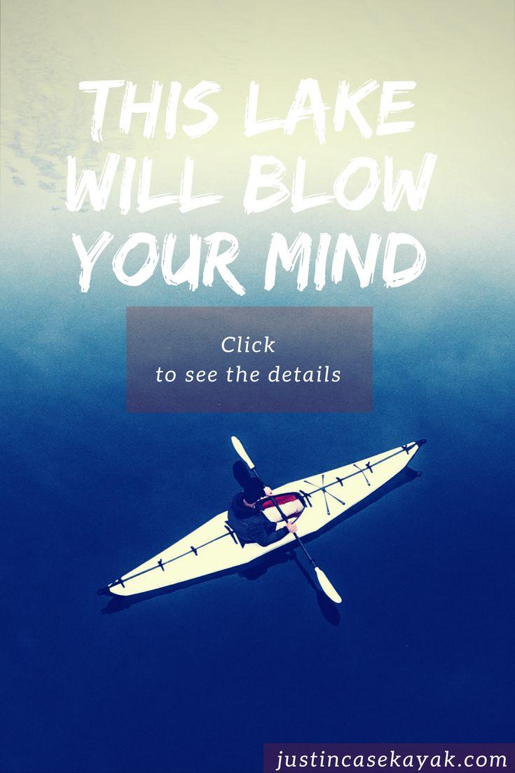 THIS LAKE WILL BLOW YOUR MIND! VISIT JUSTINCASEKAYAK.COM !