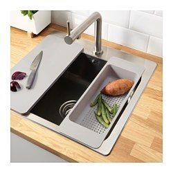 IKEA - GRUNDVATTNET, Durchschlag, Kann dank des flachen Bodens z. B. auch als Abtropfgestell für Gläser genutzt werden, um Platz auf der Arbeitsplatte frei zu machen.Geeignet als Sieb zum Waschen von Gemüse und Salat oder zum Abschütten von Nudeln usw.