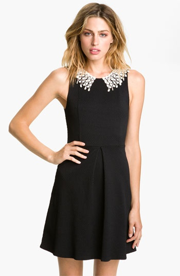 "Selling this ""Free People Black Lace Collar Open Back LBD"" in my"