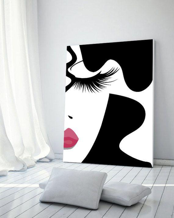 Makeup print fashion print makeup art lashes print by CocoLarson