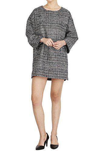 Hipsteration Womens Long Sleeve Tee Plaid Short Dress Grey, M Hipsteration http://www.amazon.com/dp/B01AUY3BB0/ref=cm_sw_r_pi_dp_03eOwb1CEH0JD
