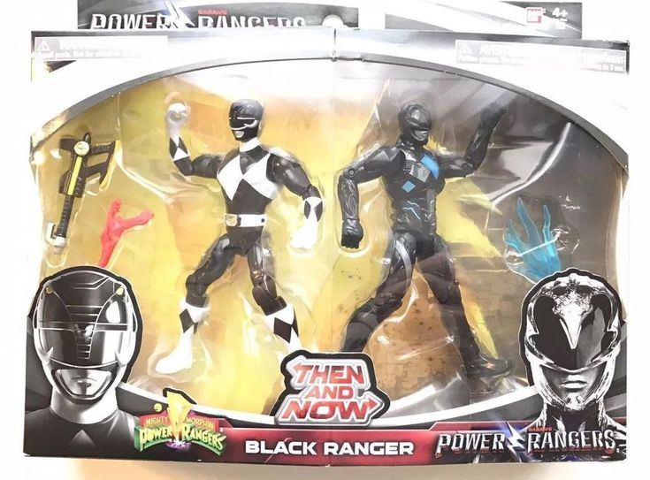 Power Rangers Then and Now Black Ranger Action Figures Set 2017 Bandai NEW  #Bandai