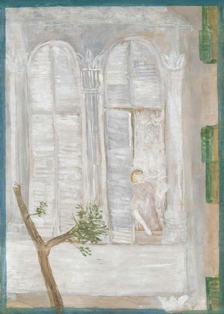 Anna Margit (1913-1989) Ablakból kinéző, 1936