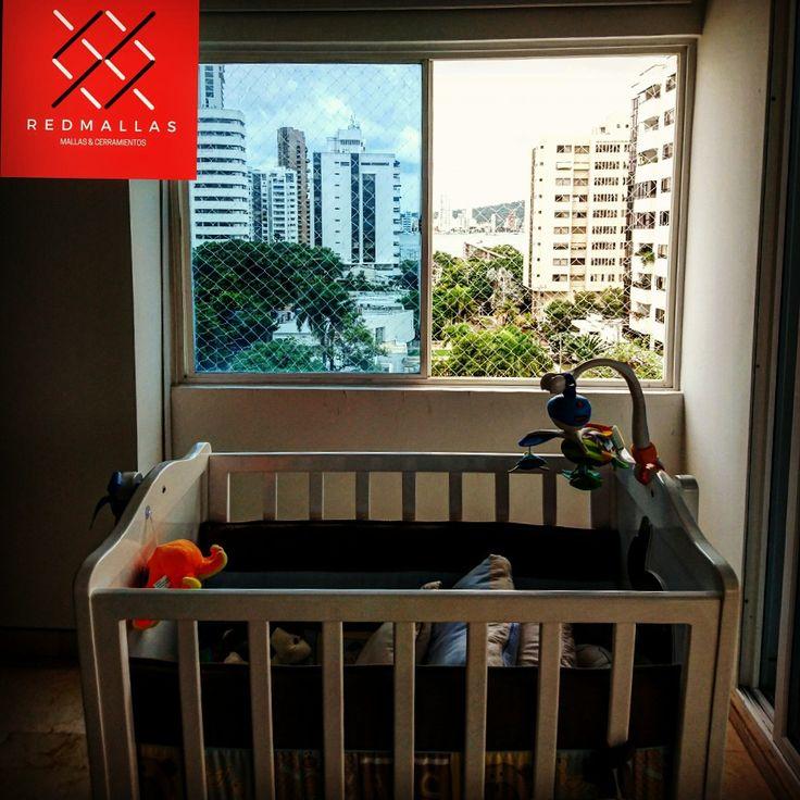 Espacios seguros para tu familia.  Red Mallas.  Contactanos y agendamos tomar las medidas sin ningún costo.   Whatsapp 3008156257   www.redmallas.com   #cartagena #niño #bebes #familia #hogar #seguridad #Mallas #balcones #ventanas #apartamentos