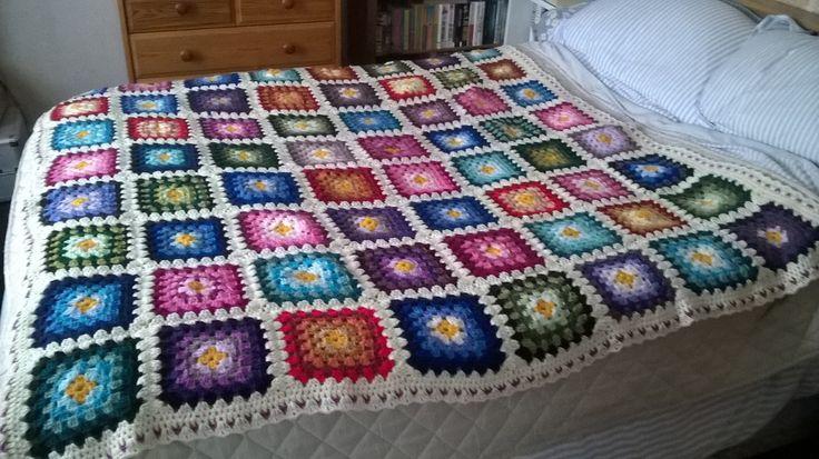 Patchwork Blanket, snuggle on sofa size.