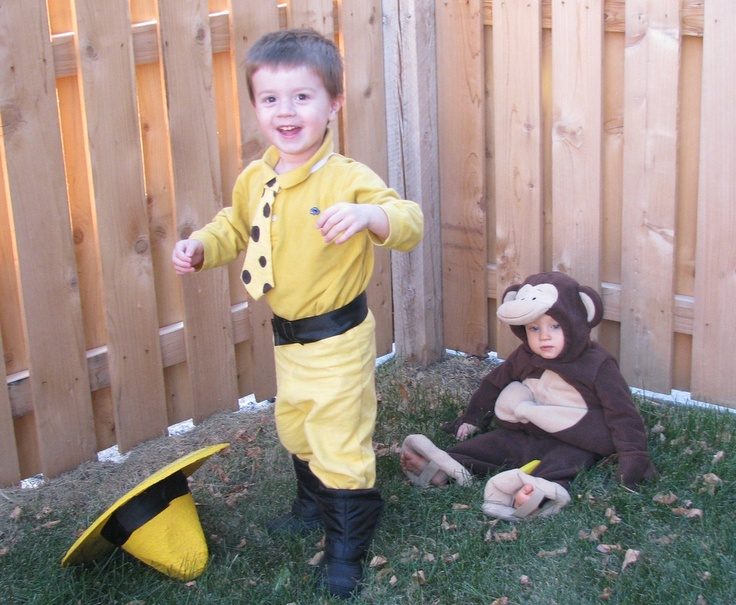 curious george and the man with the yellow hat - Halloween Costume For Brothers
