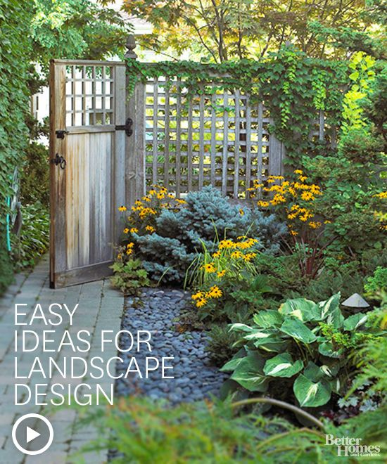 Make your yard the best on the block with these easy landscaping ideas. Watch the video here: http://www.bhg.com/videos/m/61339170/easy-ideas-for-landscape-design.htm?socsrc=bhgpin022214easylandscaping