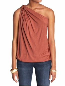 I love one shoulder anything. Always classy and looks good on everyone. this would look great with a good pair of jeans or dress shorts & killer heels!