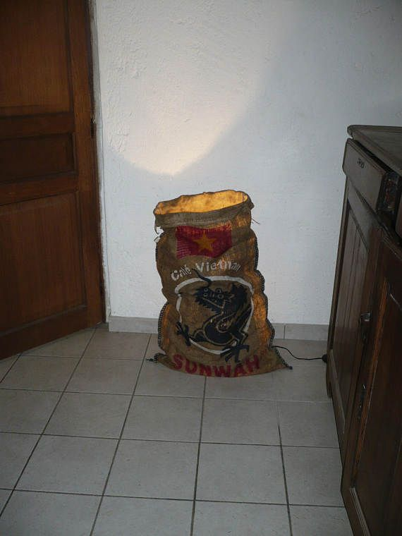 original lampe véritable sac à café Vietnam