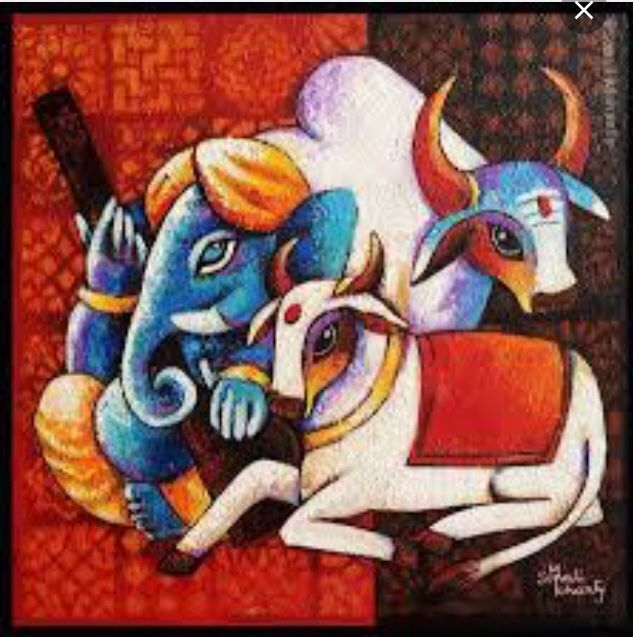 Ganesha with cows