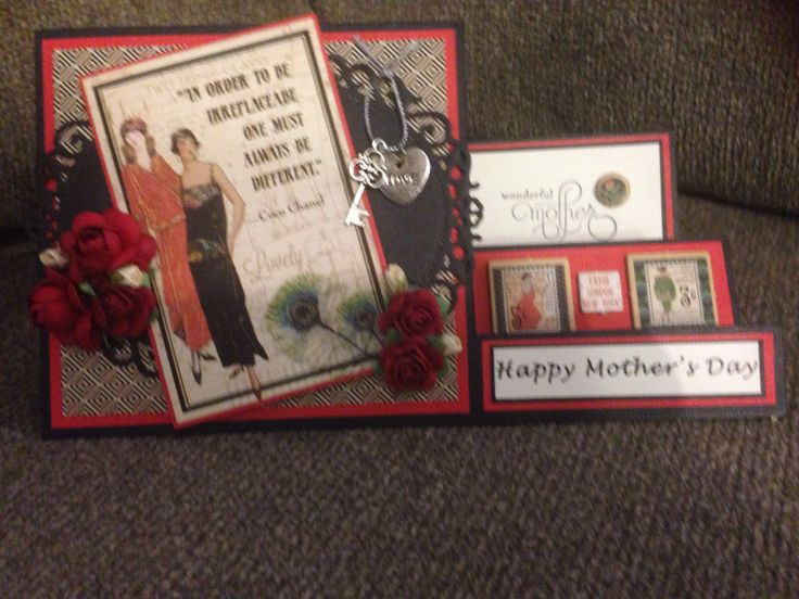 Mother's Day card order#79 using Graphic 45 Couture