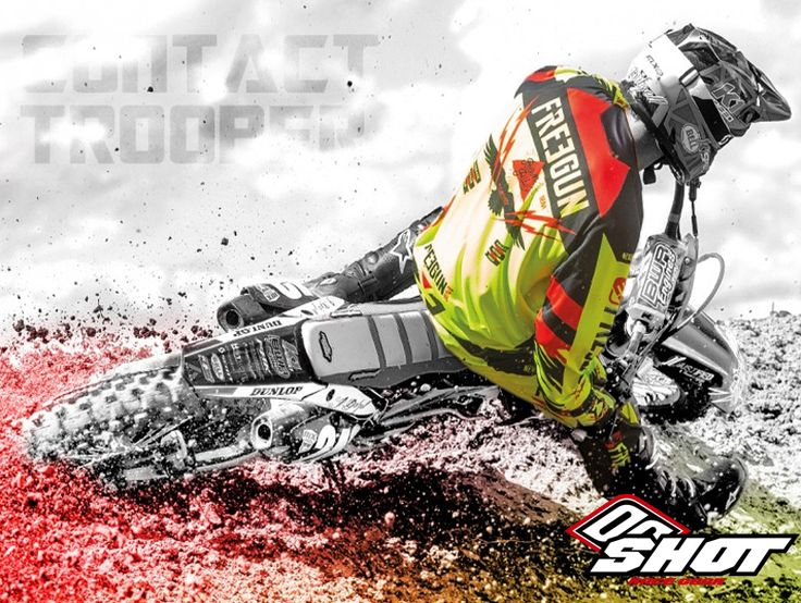 Freegun by Shot is proud to present its Contact Trooper Motocross Gear! Featuring Fitted cut for maximum flexibility, Special soft Lycra collar developed for neckbrace users, New raglan sleeves with Longer back to hold the jersey in the trousers and also Short soft Lycra cuffs. Check out the #Haustrom online store for more Shot MX Race Gear Collection! #ShotRaceGear #offroad #dirtbike #motocross #mx #motox #motorcyclegear #offroadriding #mensgloves #offroadgloves #mensjerseys #offroadjerseys…