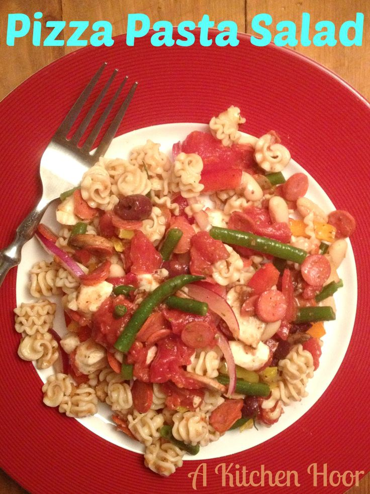 A Kitchen Hoors Adventures: Pizza Pasta Salad with http://@Melissa Squires Waters Foods and http://@Daniel Morgan Morgan Vlasic