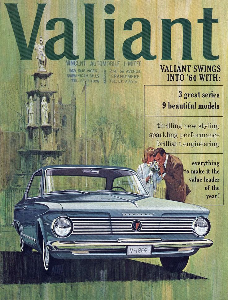 MY FIRST car was a Valiant convertible- push buttons, red interior- a lot of fun!  Great memories- 1964 Plymouth Valiant.
