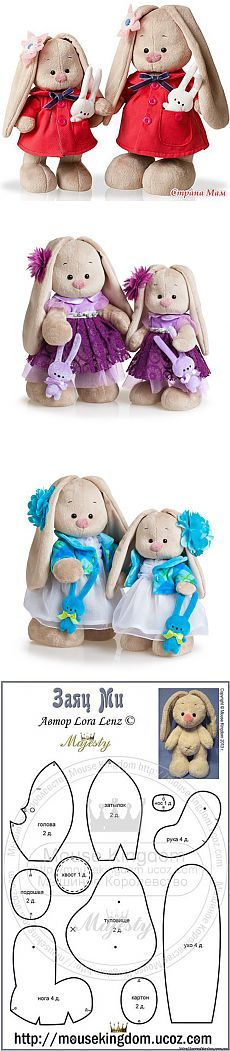 Me & bunny sewing pattern. Mais