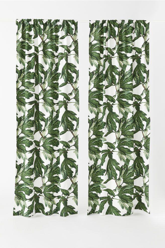 2 Pack Curtain Panels Curtain Patterns Leaf Curtains Curtains