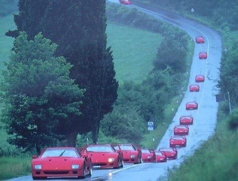 Ferrari F40 parade ♥