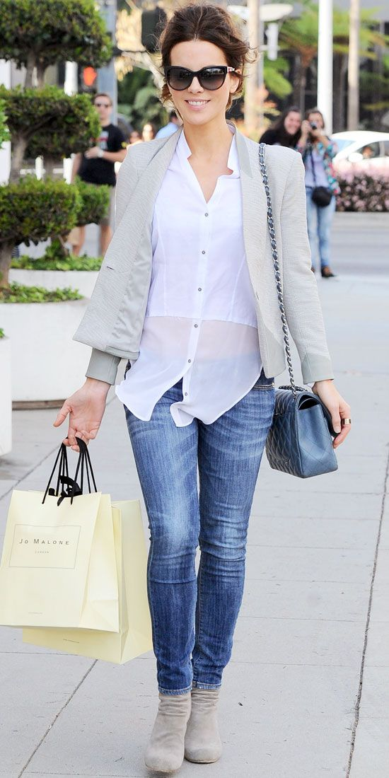 Kate Beckinsale hit the street in style. Look of the Day: April 7, 2013 - Kate Beckinsale : InStyle.com